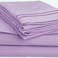 Clara Clark ® Supreme 1500 Collection 4pc Bed Sheet Set - Full (Double) Size, Lavender
