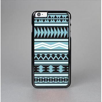 The Vector Blue & Black Aztec Pattern V2 Skin-Sert Case for the Apple iPhone 6 Plus