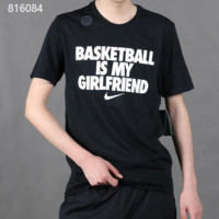 """Nike"" Unisex Sport Casual Letter Print Couple Short Sleeve T-shirt Top Tee"
