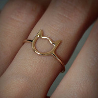 1pc Cat Midi Finger Rings