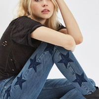 MOTO Star Embroidered Jamie Jeans - New In This Week - New In
