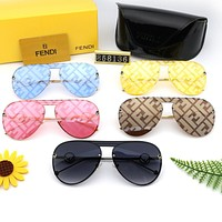 FENDI Hot Sale Women Men Fashion Summer Sun Shades Eyeglasses Glasses Sunglasses