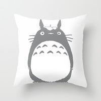 totoro Throw Pillow by Studio VII