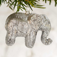 Elephant Glitter Ornament - Urban Outfitters