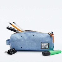 Herschel Supply co. Scattered Chambray Settlement Pencil Case in Blue - Urban Outfitters