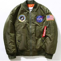 Nasa Patched Bomber Jacket