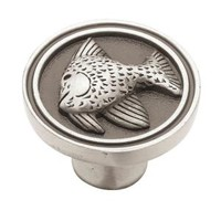 Liberty, Seaside Cottage 1-3/8 in. Brushed Satin Pewter Fish Cabinet Knob-DISCONTINUED, 52716.0 at The Home Depot - Mobile
