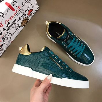 Dolce&Gabbana 2021 Men Fashion Boots fashionable Casual leather Breathable Sneakers Running Shoes0506pk