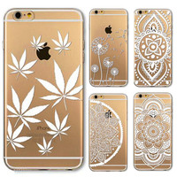 Case for iPhone 6  6s 4.7inch Painted Pattern Flower Henna White Floral Paisley Flower Mandala Tpu Soft Ultra Thin Phone Case