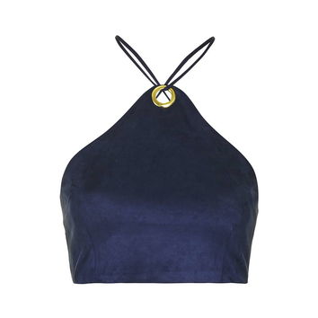 **Faux Suede Crop Top by Rare - Tops - Clothing