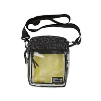 HEX - Crossbody Clear Black Reflective Pouch