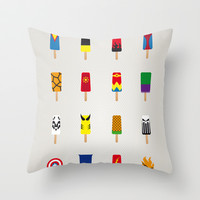 My SUPERHERO ICE POP UNIVERS Throw Pillow by Chungkong