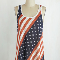 Americana Mid-length Tank top (2 thick straps) Mind Your Banners Top by ModCloth