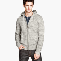 Fine-knit Hooded Jacket - from H&M