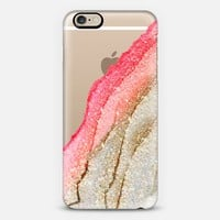 FLAWLESS CORAL & FAUX GOLD by Monika Strigel iPhone 6 iPhone 6 case by Monika Strigel | Casetify