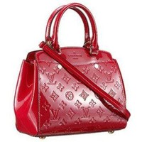 Tagre™ ONETOW Louis Vuitton Brea Monogram Vernis PM Bag Cherry