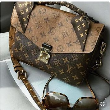 LV Louin Vuitton Popular Women Monogram Leather Handbag Tote Shoulder Bag Crossbody Satchel
