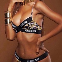 MOSCHINO Hot Sale Fashion Women Sexy Print Two Piece Bikini Swimsuit