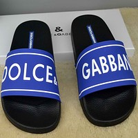 Trendsetter Dolce Gabbana  Women Men Fashion Casual Slipper Shoes