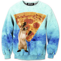 Save Me Pizza Cat Sweatshirt