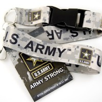 """1 X Official Licensed Products Military Beige """"US ARMY"""" Lanyards"""