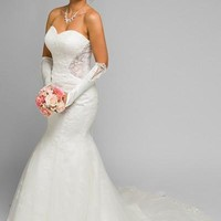 Sexy wedding dress & inexpensive mermaid gown jul#348