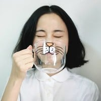 Cat Animal Glass Cup/Mug