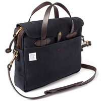 Black Leather Canvas Briefcases Men and Women - Laptop Messenger Bags from Apolis