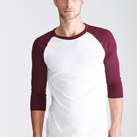 Colorblocked Raglan Baseball Tee
