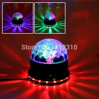 Stage lights laser projector LED rotated base voice-activated led crystal magic ball light Disco DJ Free Shipping