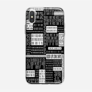 Fall Out Boy Logo Quotes iPhone XS Case