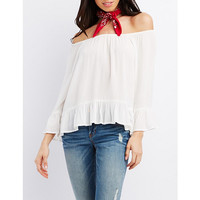 Ruffle Off-The-Shoulder Blouse