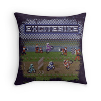 'Bike Excite' Throw Pillow by likelikes