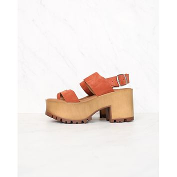 Musse & Cloud - Danna Platform Sandals in Tej