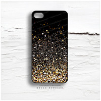 iPhone 5C Case Glitter Texture Print, iPhone 5s Case Golden Glitter iPhone 5 Case Black iPhone 4s Case, Glitter iPhone Case iPhone Cover N14