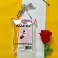 Jelly Transparent Creative Phone Bag Shoulder Bag Crossbody Chain Bags