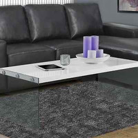Unique Contemporary Coffee Table Glass Sides Modern Living Room Furniture