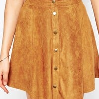 New Look Tall Button Front A-Line Skirt