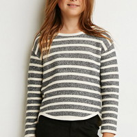 Girls Twisted-Seam Stripe Sweatshirt (Kids) | Forever 21 girls - 2000174759