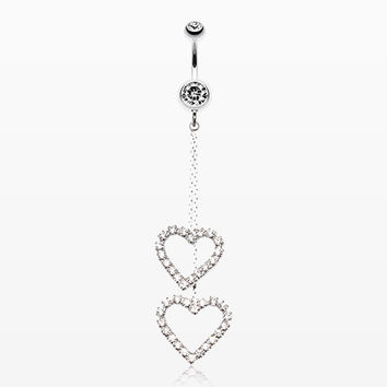 zzz-Shimmering Heart Flow Belly Ring