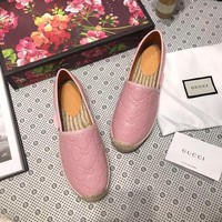 Gucci Signature leather espadrille