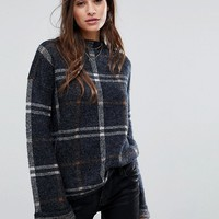 Vero Moda Check Print Knit Jumper at asos.com
