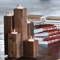Wood Tealight Pillars