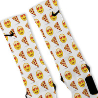 Pizza Lover Emoji Custom Nike Elite Socks