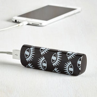 Cactus What You Preach Battery Pack in Eyes by ModCloth