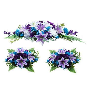 3pc set Arch decoration - Turquoise Blue, Purple, and White