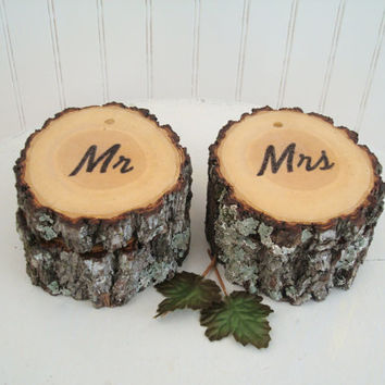 Rustic Wedding Ring Box Boxes Set of Two Mr Mrs Wood Ring Box