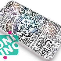Panic at The Disco Lyric Quotes White iPhone Case Cover | iPhone 4s | iPhone 5s | iPhone 5c | iPhone 6 | iPhone 6 Plus | Samsung Galaxy S3 | Samsung Galaxy S4 | Samsung Galaxy S5