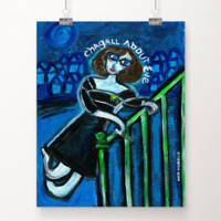 Chagall About Eve art print