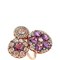 Beirut Collection Diamond and Pink Sapphire Ring